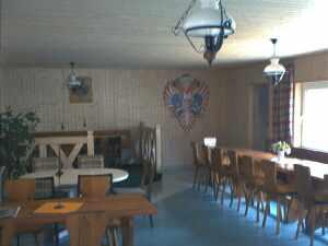 Blick von der Tür in den Vereinsraum